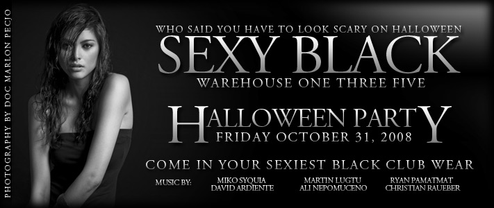 Sexy Black Halloween Party at Warehouse 135